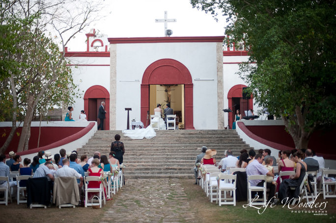 Hacienda wedding at Hacienda Temozon