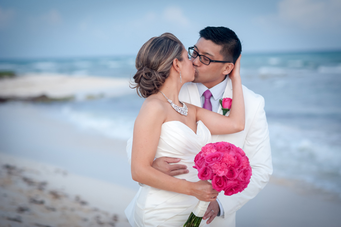 Grand Coral Beach Club Wedding Portraits