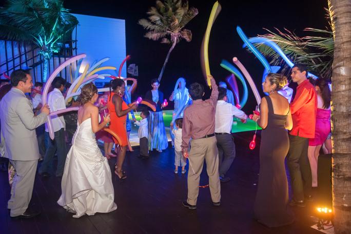 Grand Coral beach club wedding reception