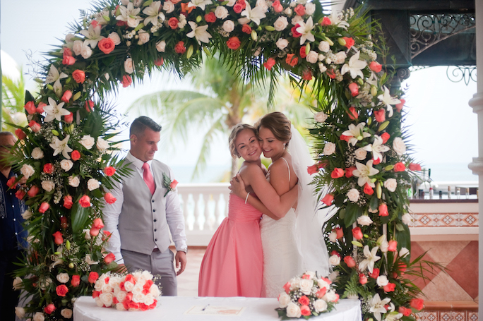 riu cancun wedding ceremony