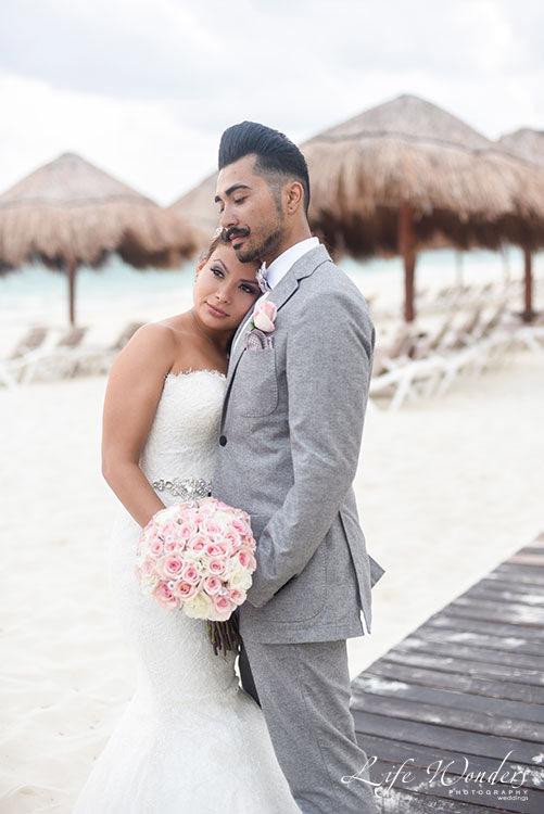 Cancun wedding portrait