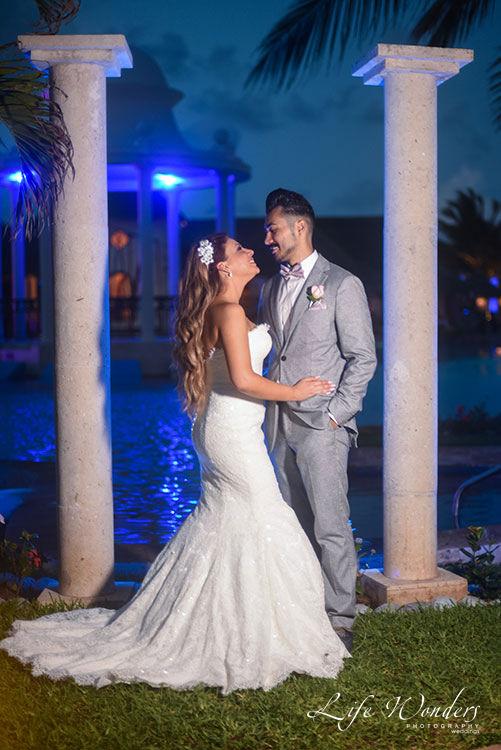Wedding reception at Now Sapphire Resort