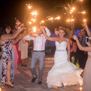 Wedding reception Cancun beach