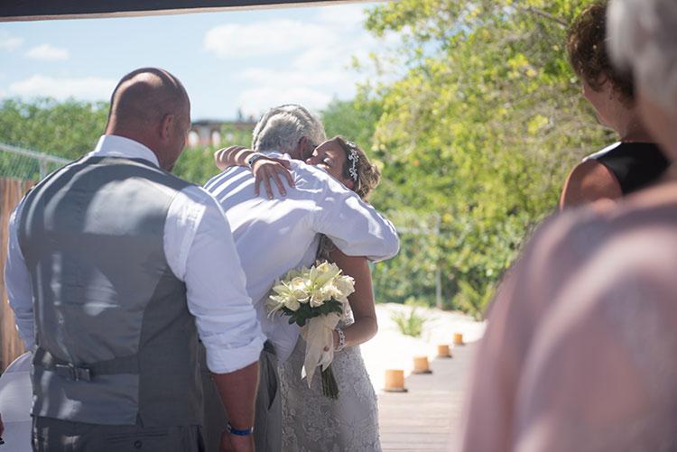Bride in the ceremony