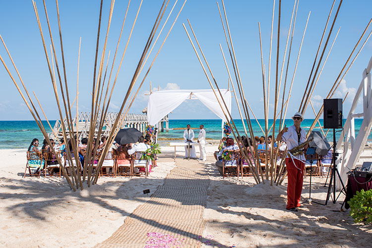 vidanta wedding ceremony in the beach