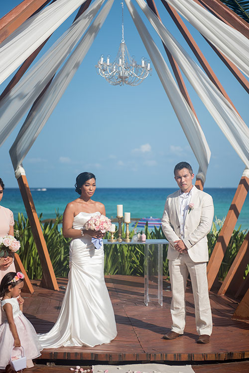 wedding ceremony in cancun