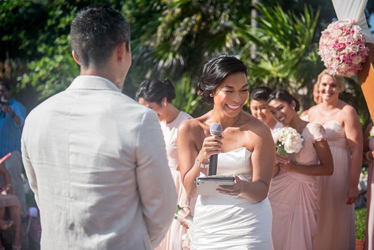 Wedding Ceremony in cancun - Azul Fives weddings
