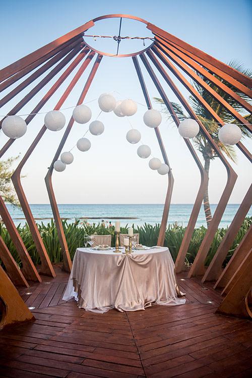 azul fives cancun wedding reception