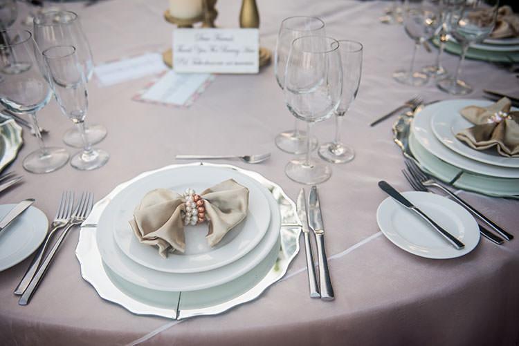 azul fives wedding table