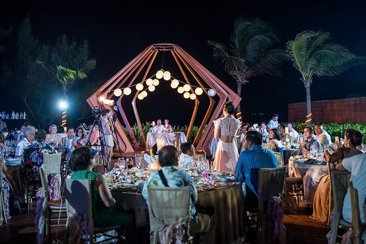 wedding reception party azul fives