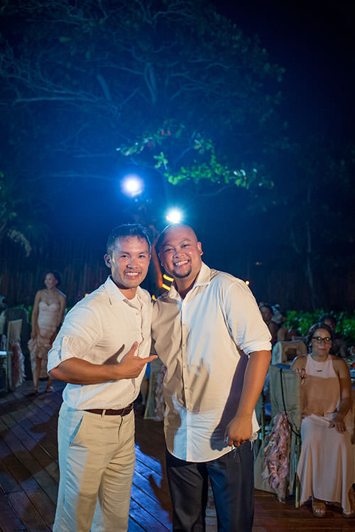 groom and guest in azul fives