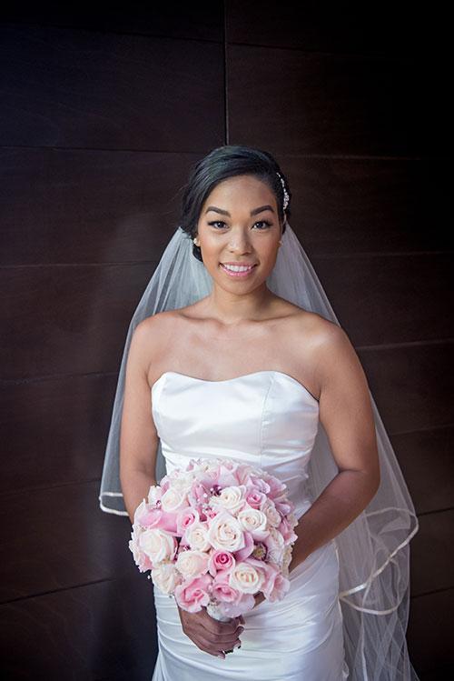bride ready for Cancun wedding