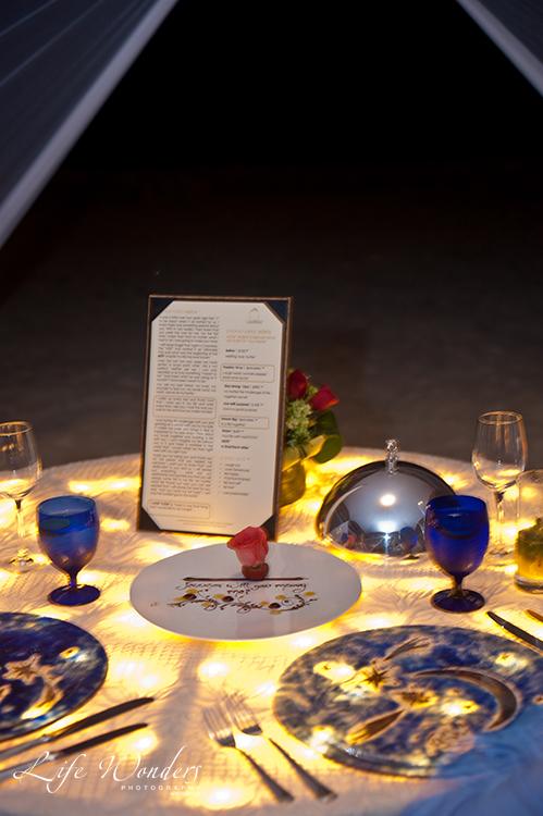 engagement dinner table setting