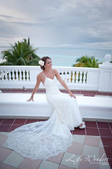 beach wedding dress of Dana