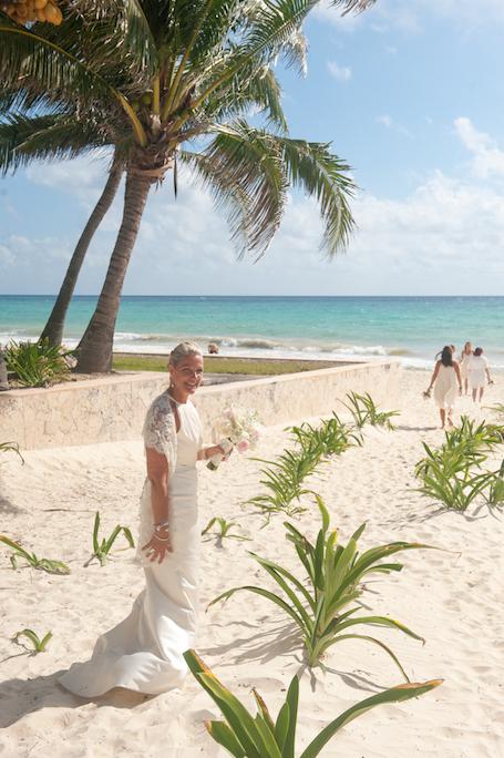 playa del carmen wedding portraits