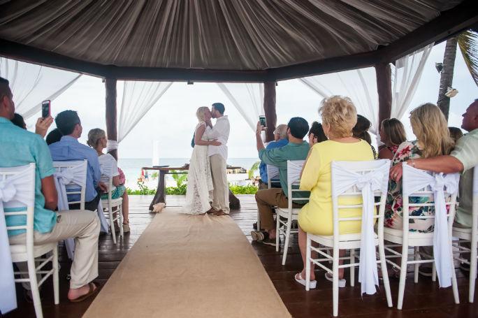 The Royal Playa del Carmen Wedding Ceremony | Rebekah & Eli