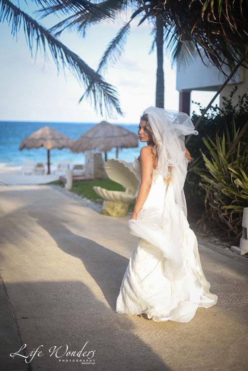 Bride at the beach