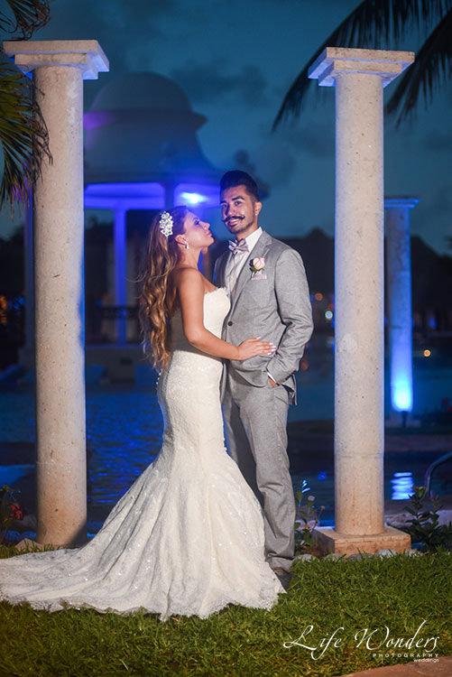 Bride and groom in Now Sapphire Resort