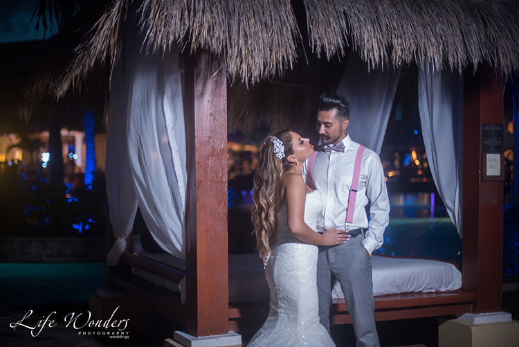 Now Sapphire Cancun wedding portraits