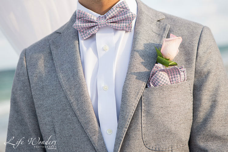 Groom attire for beach wedding