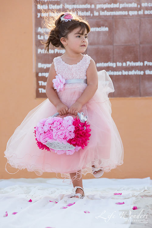 flower girl in beach wedding ceremony now sapphire wedding