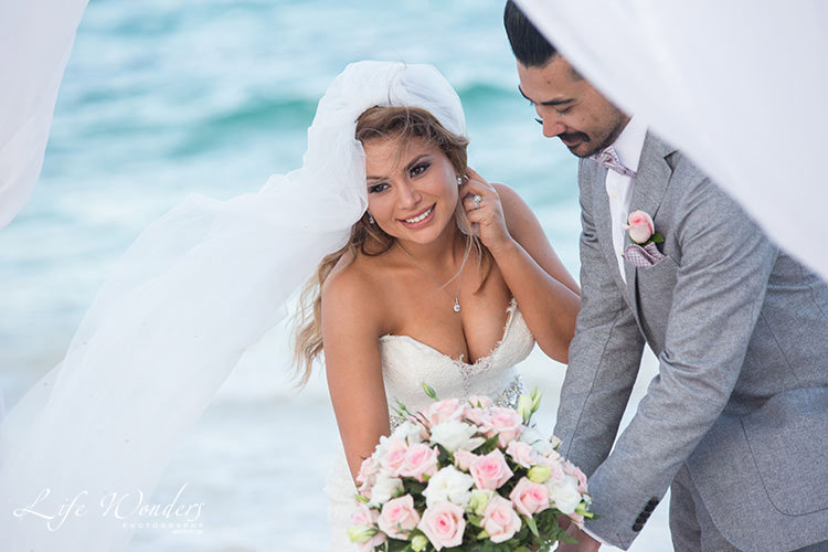 now sapphire cancun wedding ceremony