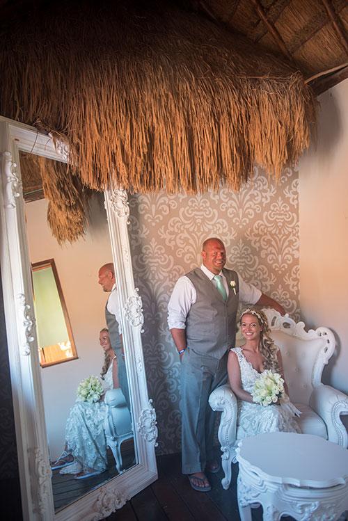 Groom and bride portrait