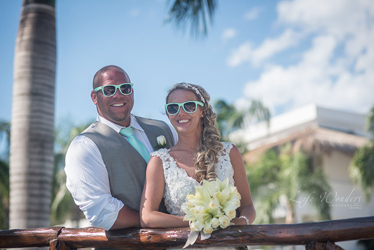 princess beach wedding portraits