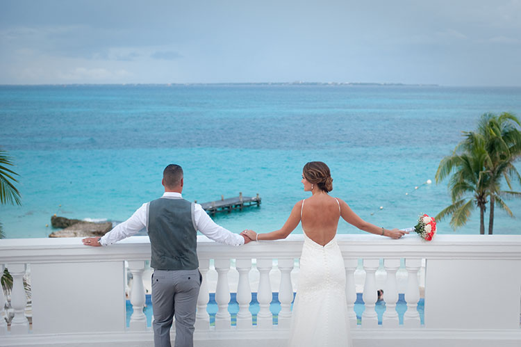 backdrop wedding view
