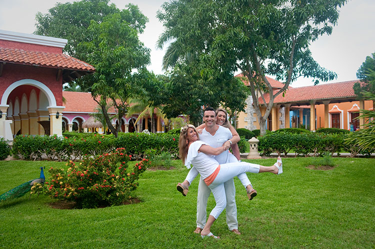 Iberostar resort family photo