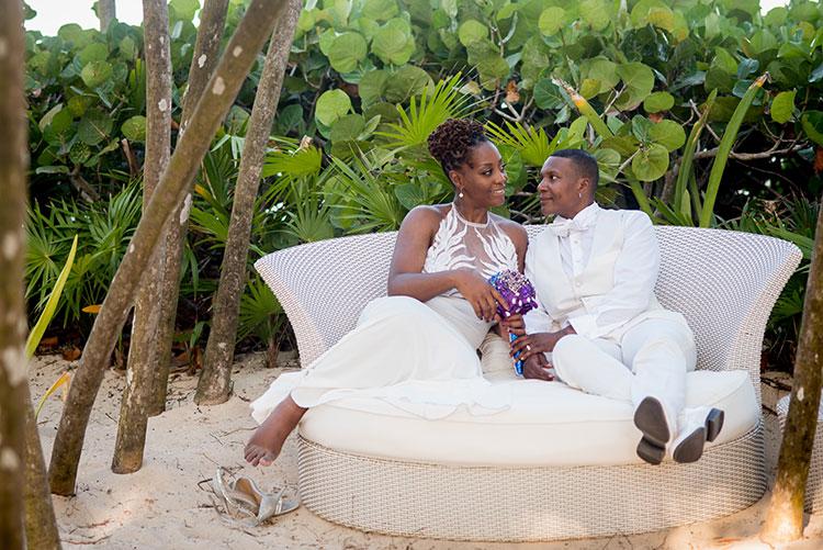 newlyweds in vidanta
