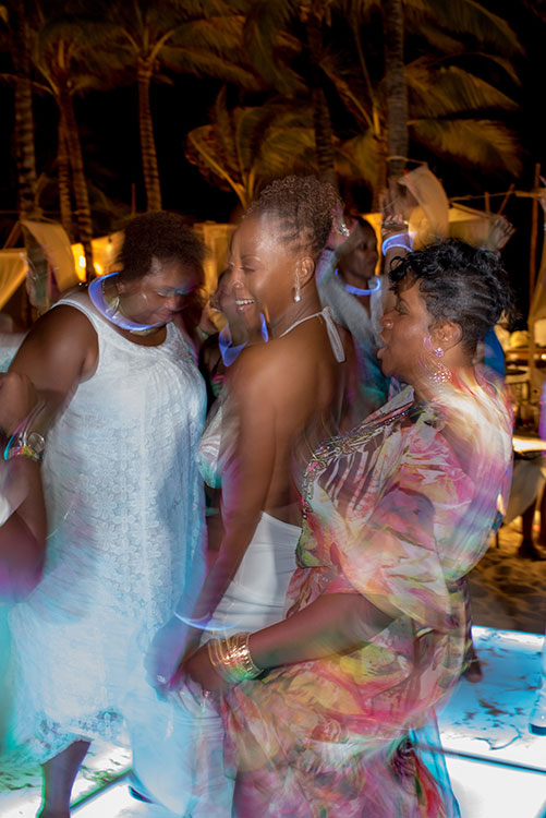 wedding guest dancing in vidanta resort