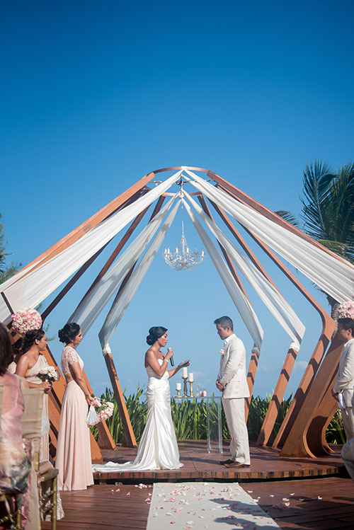 cancun Wedding Ceremony  Azul Fives weddings