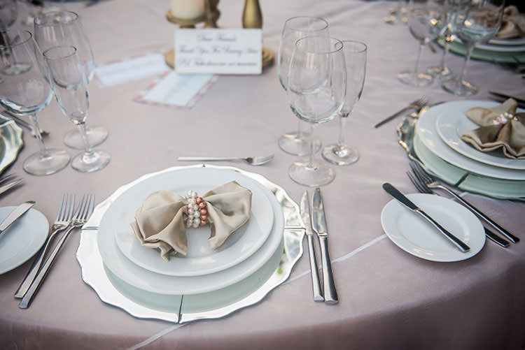 azul fives wedding table