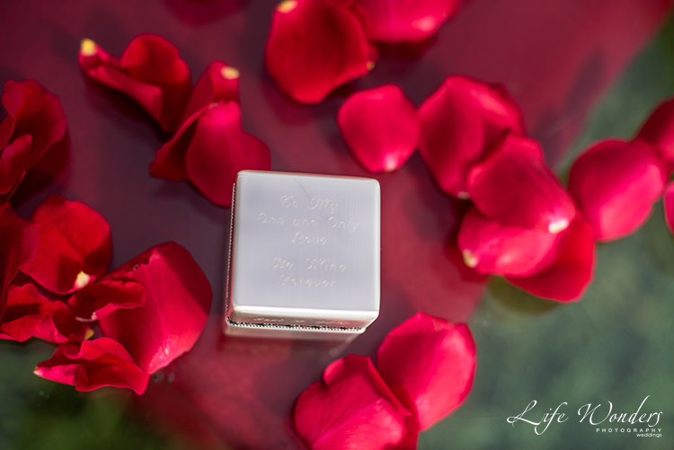 engagement ring box with roses