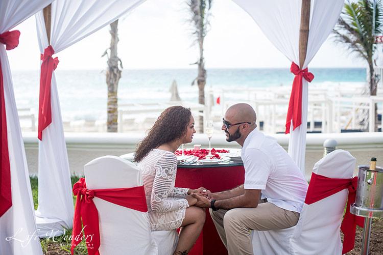 wedding proposal on beach