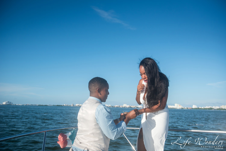 surprise marriage proposal on a yacht - marriage proposals