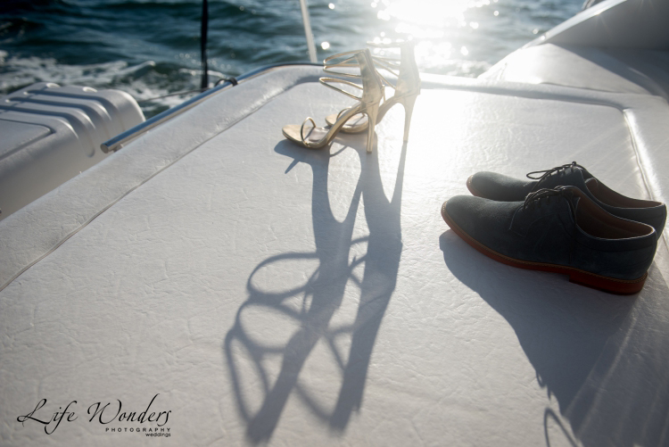 party shoes on boat