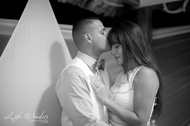 black and white proposal photography