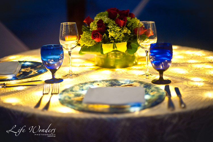 dinner table setting for romantic proposal