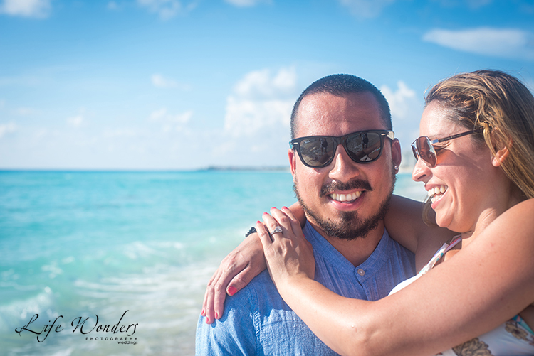 couple photography on cancun beach as engagement idea