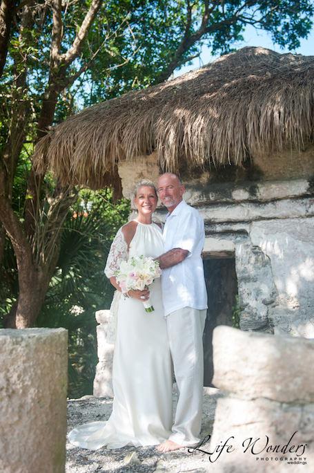 playa del carmen wedding portrait