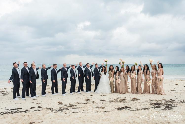 bride groom bridesmaids groomsmen