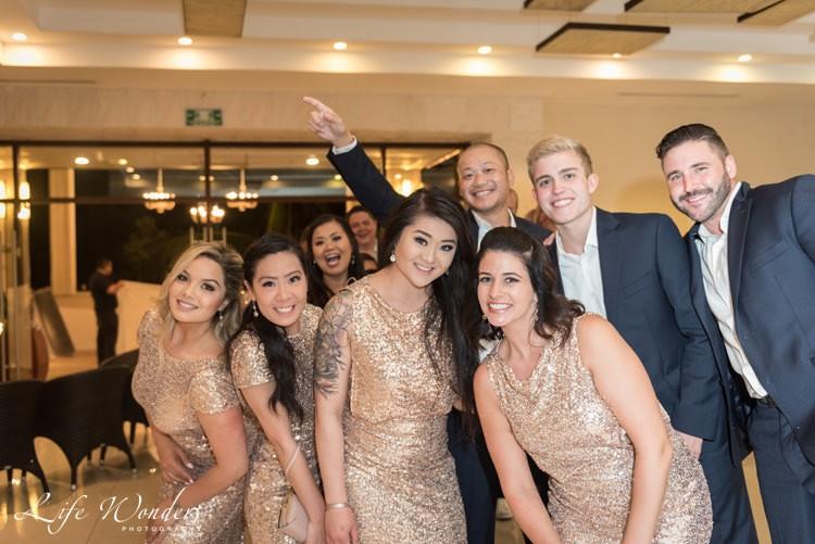 bridesmaids and groomsmen