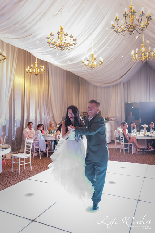 bride and father first wedding dance