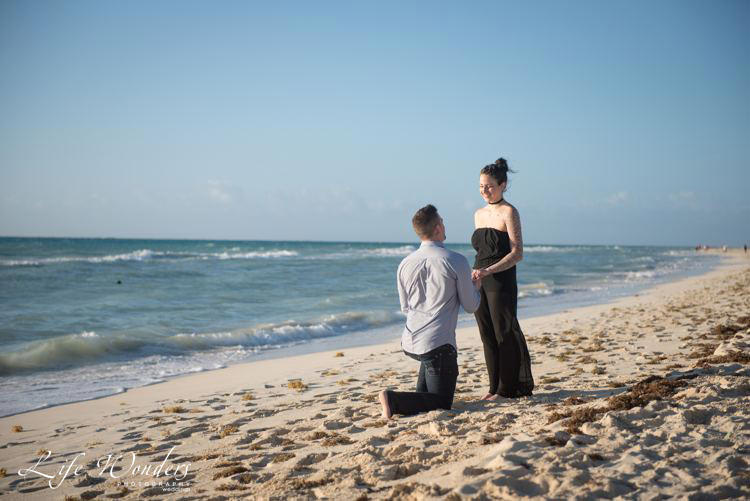 outdoor proposal idea on the beach shore - marriage proposals