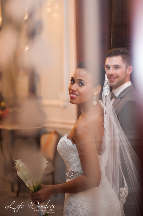 mexico wedding photographer bride and groom smiling