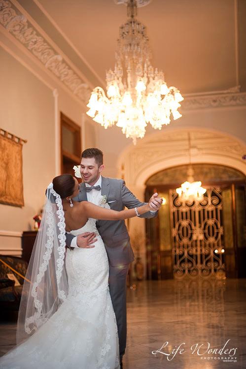 mexico wedding photographer bride and groom dancing