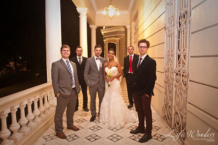 merida wedding photographs bride groom and groomsmen