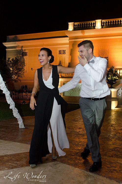 mexico wedding photographs bride groom fun moment